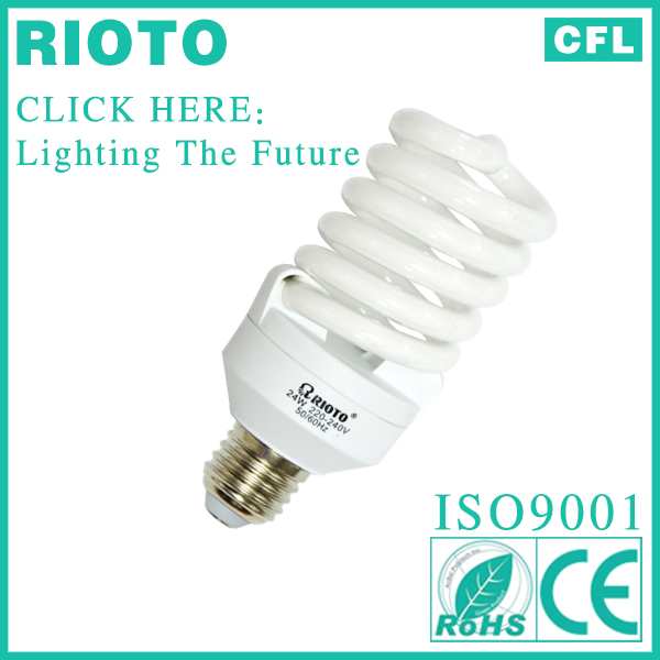 2013 cheap energy saving wholesale led bulb light T3 10mm 23W full spiral tube light fixture