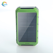 Universal Portable Full Capacity 8000mAh Solar Power Bank for GPS Device Smartphone Laptop