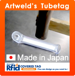 Artweld's Tube Tag / nfc mobile phone