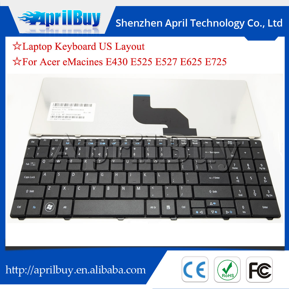 laptop internal keyboard for Acer emachines E430 E525 E527 E625 E725
