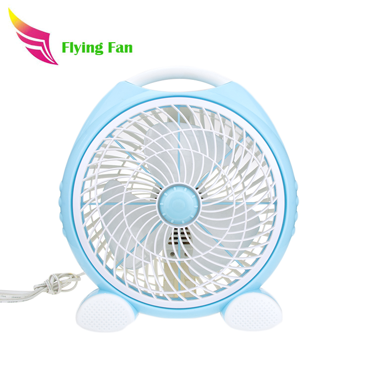 Home appliances good quality plastic cooling 12 square silent box hand plastic fan