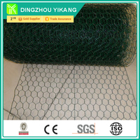 PVC Coated Hexagonal Chicken Wire Mesh, Galvanization After Weaving