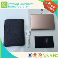 lithium polymer extended cell phone battery power bank 10400mah