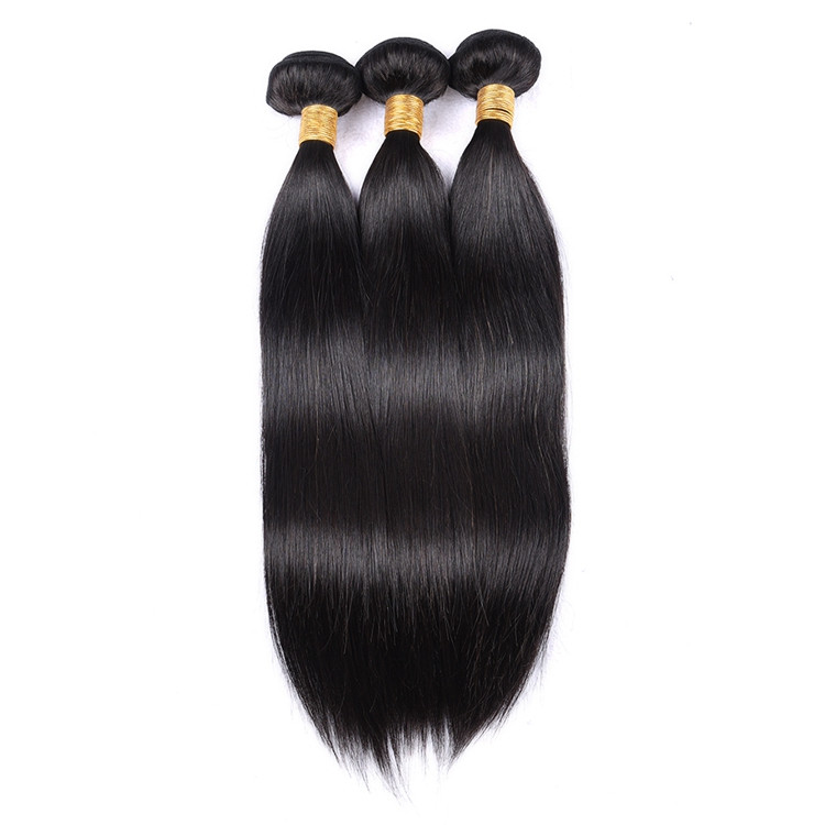 Wholesale 3 Bundles 1 Pack Silky Straight Wave Raw Natural Indian Hair