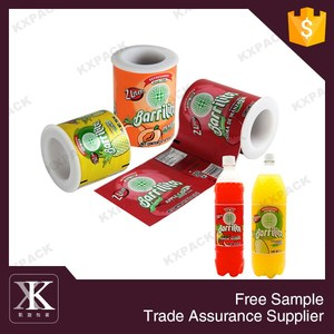 Heat Resistant Plastic Shrink Film For Drinking Bottle Packaging