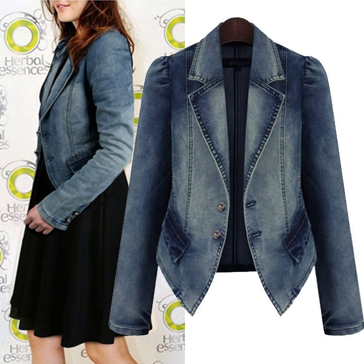 Low price professional ladies polyester viscose jacket