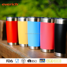 New arrival frosted copper silver stainless steel beer mug with lid