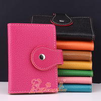 Zongshu wholesale lock leather credit card holder wallet