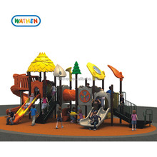 2018 Outdoor Nature style Amusement Park Play Game With Playground Slide For Children