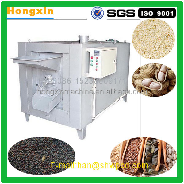stainless steel commercial used automatic peanut salting roasting machine for sale