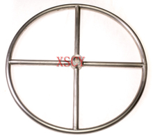 stainless-stell pipe spokes parallel welding handwheel 24'' (25.4 through-hole) Empty tube hand wheel factory