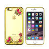 Anti-Skid electroplating beautiful mobile phone back cover with diamond for iPhone 7 tpu case