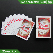 042 For Beer Ccompany 350gsm Matte Lamination 100 Plastic Playing Cards Royal