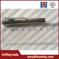 Diamond electroplate Core Drill bits for cutting drill glass dia 12mm with cutting length 35mm
