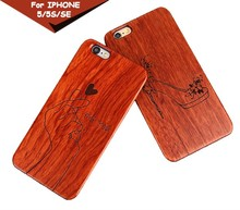 2016 China supplier high quality cheap mobile phone wooden pc hard case for iphone 5s
