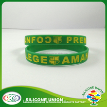 High quality glow in dark special silicone Bracelet/ custom heat transfer printed Silicone Wristband