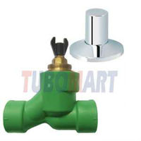 High Quality PPR Pipes Fittings Stop valve new style with brass cartridge from China Manufacturer