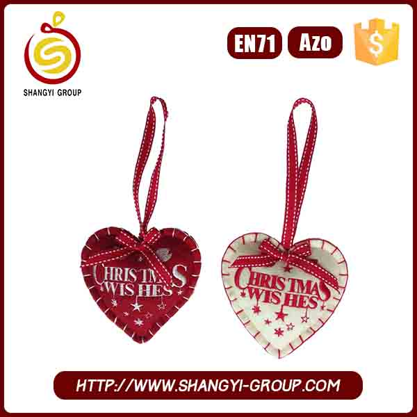 Promotional items China 2017 trend Xmas words heart decoration