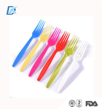 Wholesale FDA Certification Colorful Party Disposable Plastic Long Handle Fork