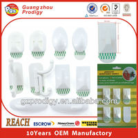 White or transparent adhesive ceramic tile wall hook