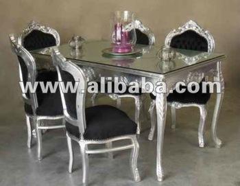 Neo rococo modern silver baroque furniture buy neo for Sillas barrocas modernas