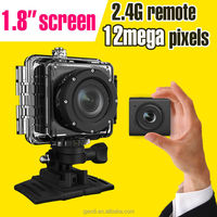 Long range remote control sports camera 120 degree waterproof 1080p