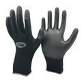 NMSAFETY 13 gauge knitted black nylon pu dipped dmf free working gloves for construction