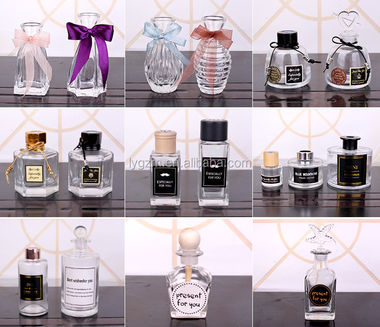 120ml fragrance diffuser glass aroma freshener bottles with stopper