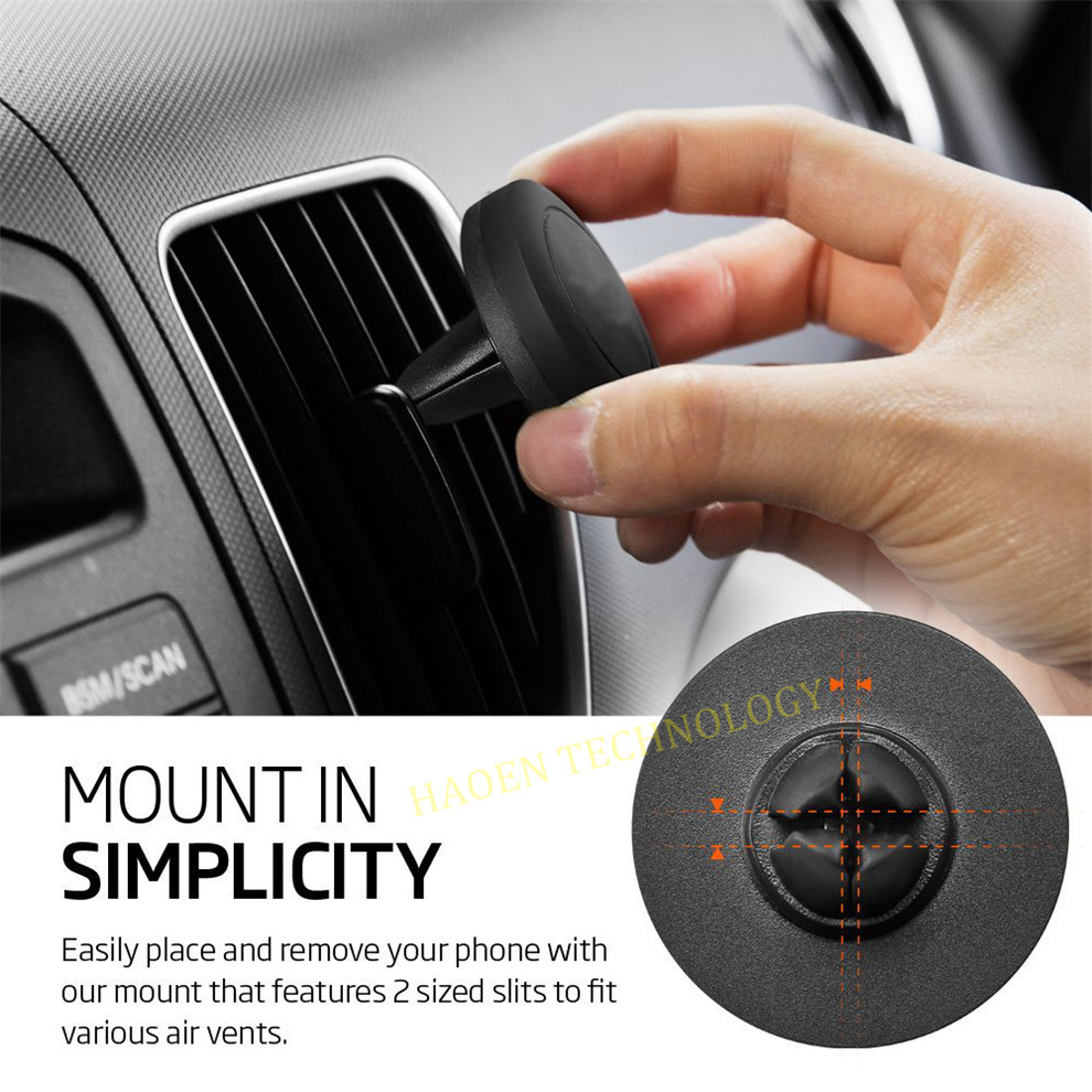 Factory Best Seller Magnetic Phone Mount, Air Vent Magnetic Phone Holder Cradle-less design portable size phone mount holder