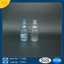 270ml Juice Use and PET Plastic Type plastic mineral water bottle price