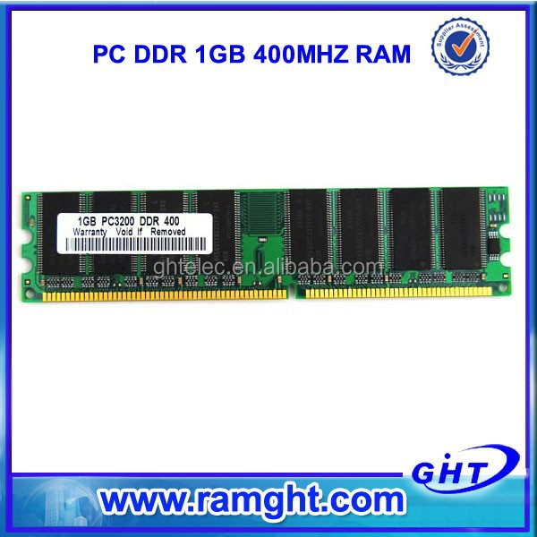 China wholesale non ecc 64mb*8 16chips ram ddr 1g 400mhz for desktop
