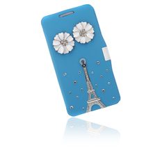 Big Sales Flip Leather Bling Flower Case Cover PU Leather for Samsung Galaxy Note 3 III N9000 Protect surface against abrasion