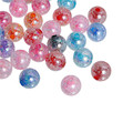 Acrylic Spacer Beads Round Clear AB Color At Random Crackle About 16mm Dia, Hole: Approx 3.8mm