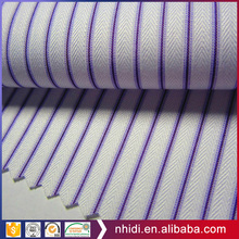 Wholesale uniform shirt stripes yarn dyed plaid ployester cotton fabric