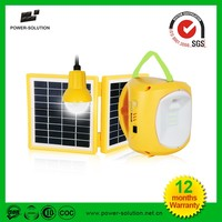Independent 1.7W solar panel solar power LED camping lantern with extra flexible hanging bulb
