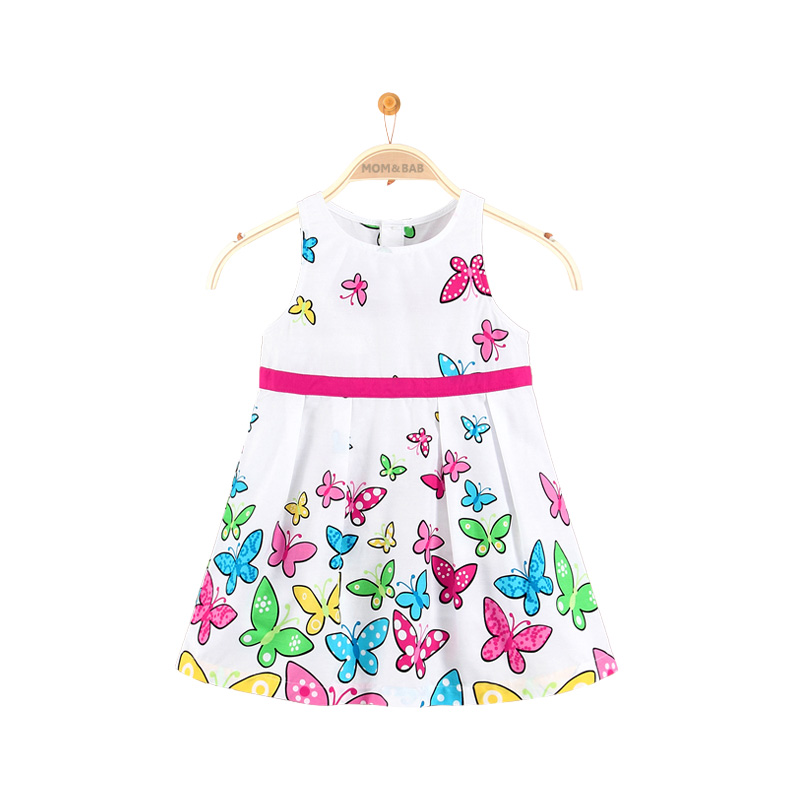 Girls cotton frocks desogns summer fancy animal pictures white fashion latest good quality dress