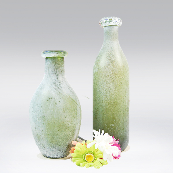 Wholesale Cheap Colored Frost Matte Glass Vase For Home Decor Or Gift