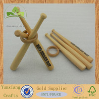 Mini wooden baseball bat sets