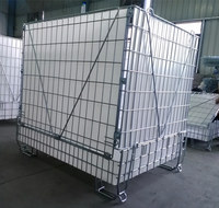 pet wire mesh folding steel warehouse storage cage
