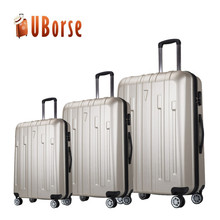 Uborse abs+pc Suitcases Travel Luggage , 3 piece trolley luggage Set AC31