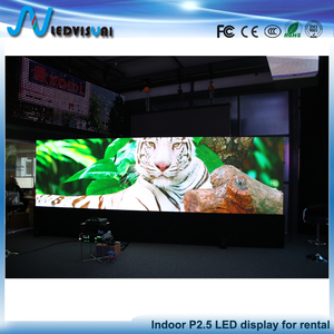 High resolution indoor P2.5 full color HD LED video wall screen indoor led display panels