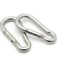 HXY Safety Snap Carabiner, Climbing Mountaineering Carabiner Snap Hook, Galvanized 304 316 Bulk Stainless Steel Carabiner Clip