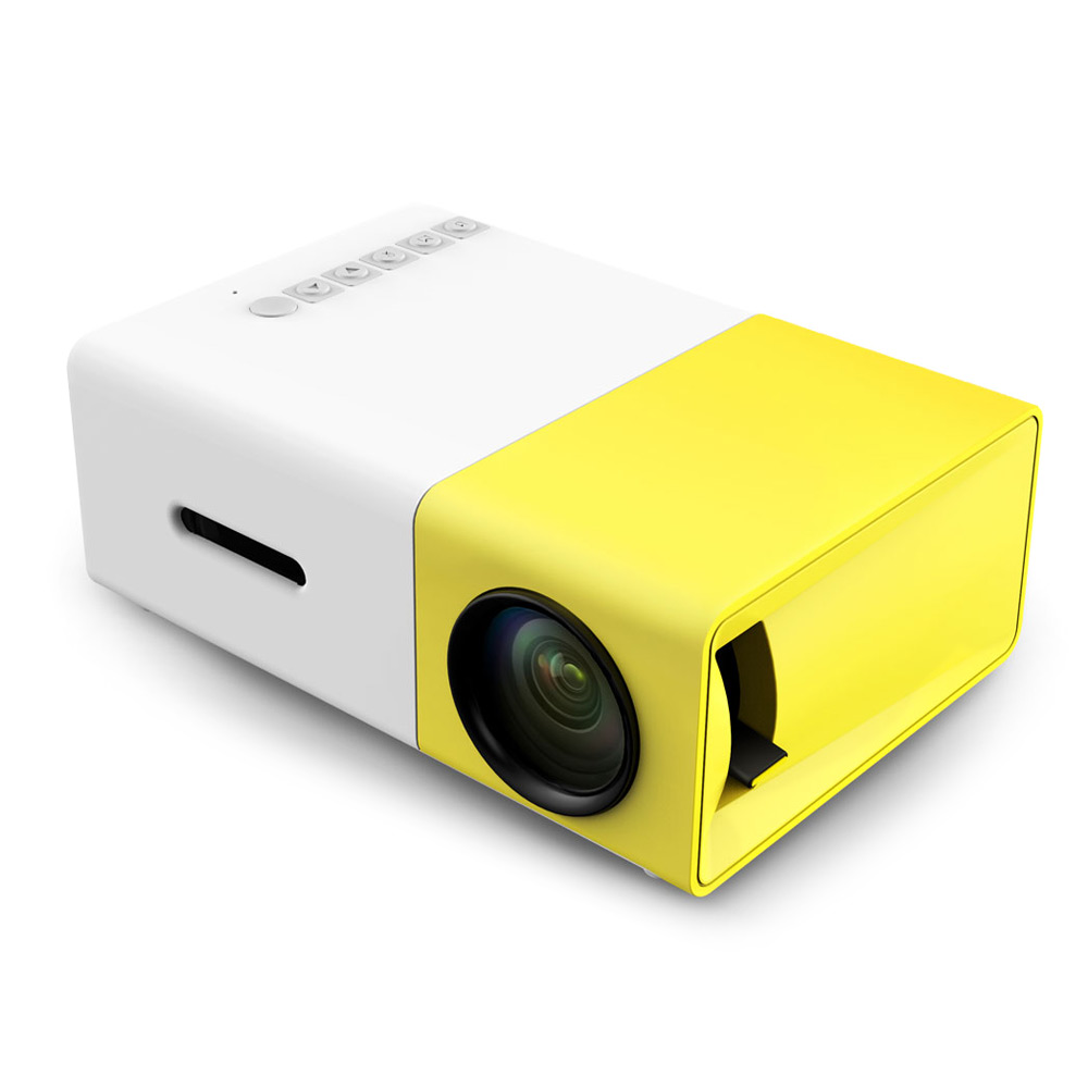 Portable LCD LED Projector 500LM 3.5mm Audio 320x240 Pixel HDMI USB Mini Home Media Player