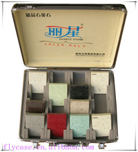 carrying quartz stone sample show case,sample display carry case with handle and locks