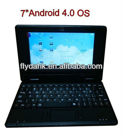 "7"" WM8850 Android 4.0 mini laptop,Notebook 703A"