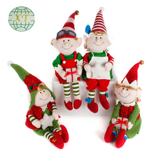 New novelty gift classic brushed elves christmas elf for decoration