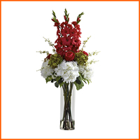 Flower glass vases cylinder wholesale