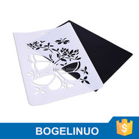 A4 Kids DIY Drawing Plastic Stencil for children white and black former set Plastic template stencil art supplies designs for pa