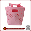 Pink beautiful design cotton canvas sweater bags / home storage organizer
