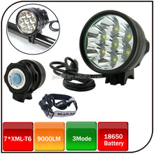 CE ROHS 7 CREE XML-T6 9000 Lumens Super Light 8800mah Battery Pack Ultrafire Cree xm-l t6 Led Rechargeable Bike Headlight